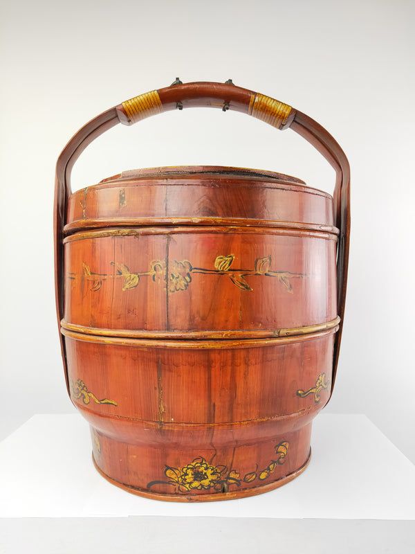 Wooden chinese wedding basket