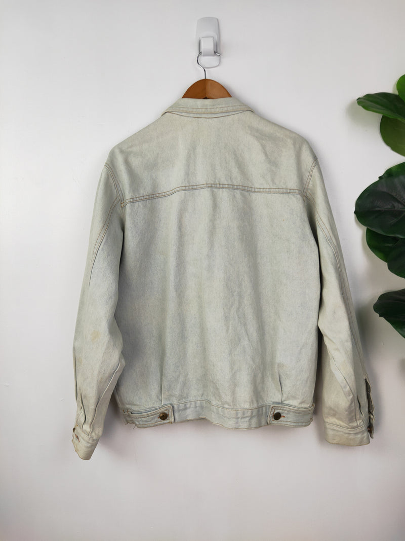 Pale blue washed denim jacket (size large)