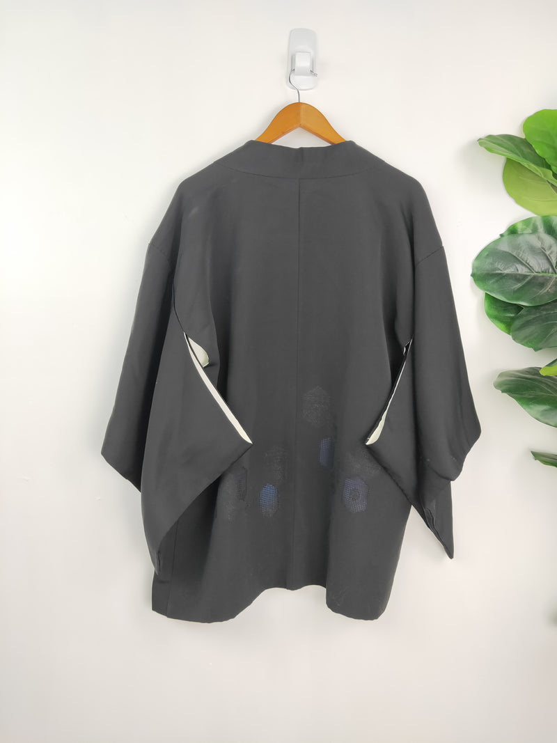 Black loose fitting kimono top (size medium)