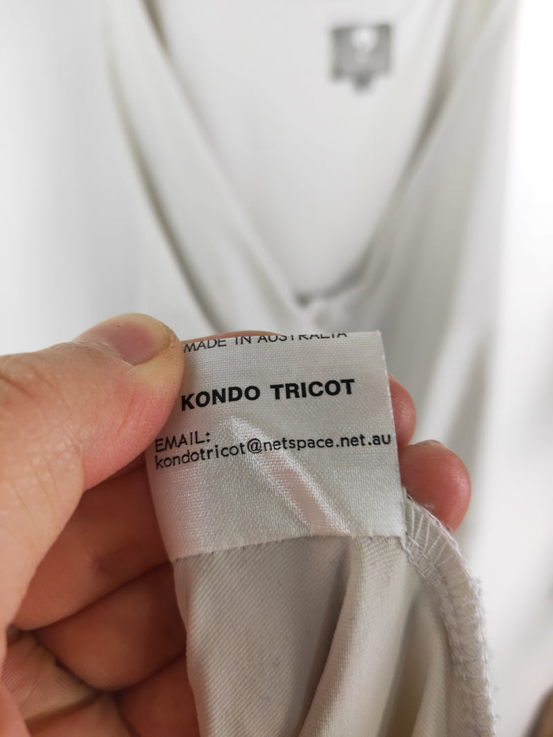 Kondo Tricot grey mock halterneck dress (size 14 AU)