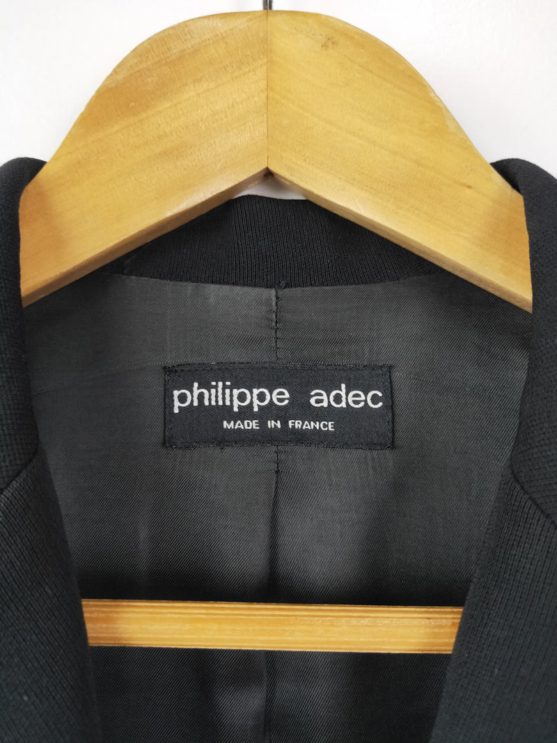 Phillippe Adec black button up blazer (size 38 Fr)