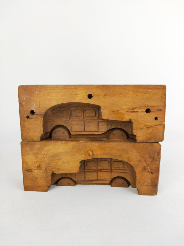 Wooden automobile dessert mould