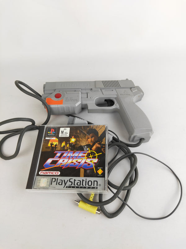 Time Crisis PS1 game with Namco gun & cable