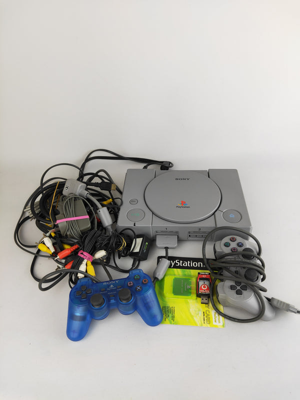 Sony PS1 Console set with 2 controller and memory card