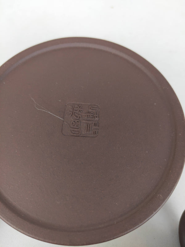 Dark brown clay chinese claypot set by Yan Mingfeng