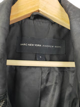 Andrew Marc 'Marc New York' black trench jacket (size small)