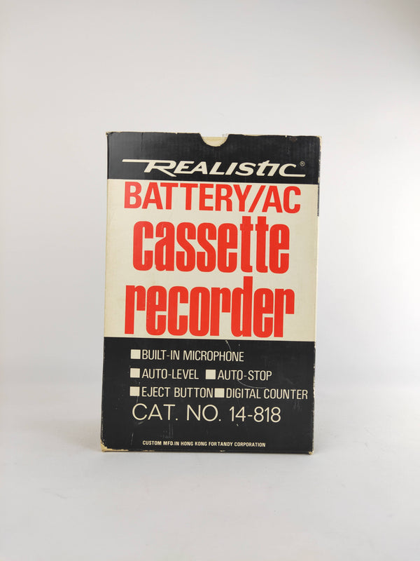 Realistic Battery/AC Casette Recorder Vintage