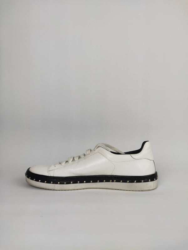 Cesare Paciotti White Studded Sneakers (Size 12 US)