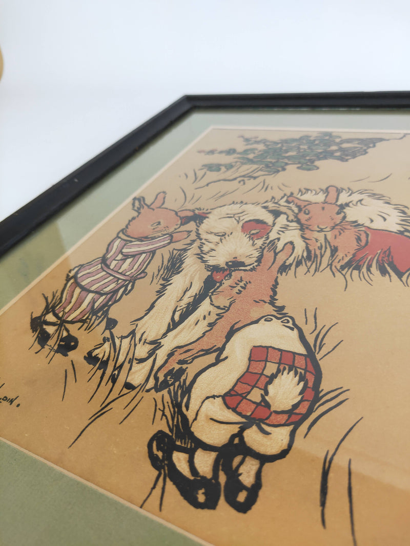 Rabbit Search Party Bunnyborough Collection Lithograph by Cicil Aldin