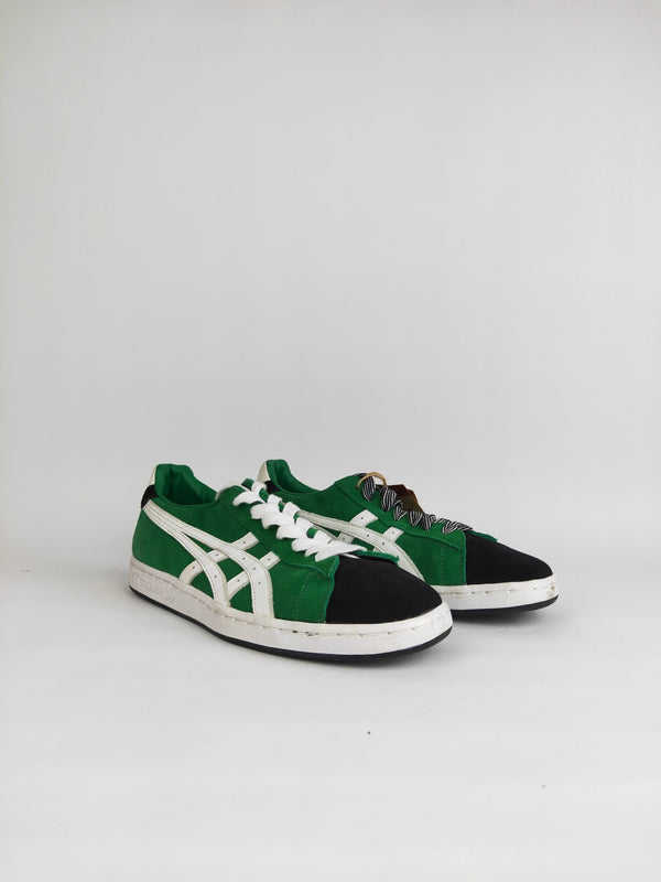 Asics Onitsuka Tiger Black and Green Suede Sneakers - US 9