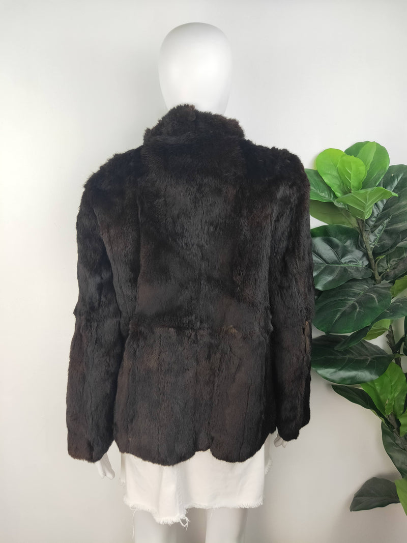 Vintage Brown Fur Coat - Size Medium