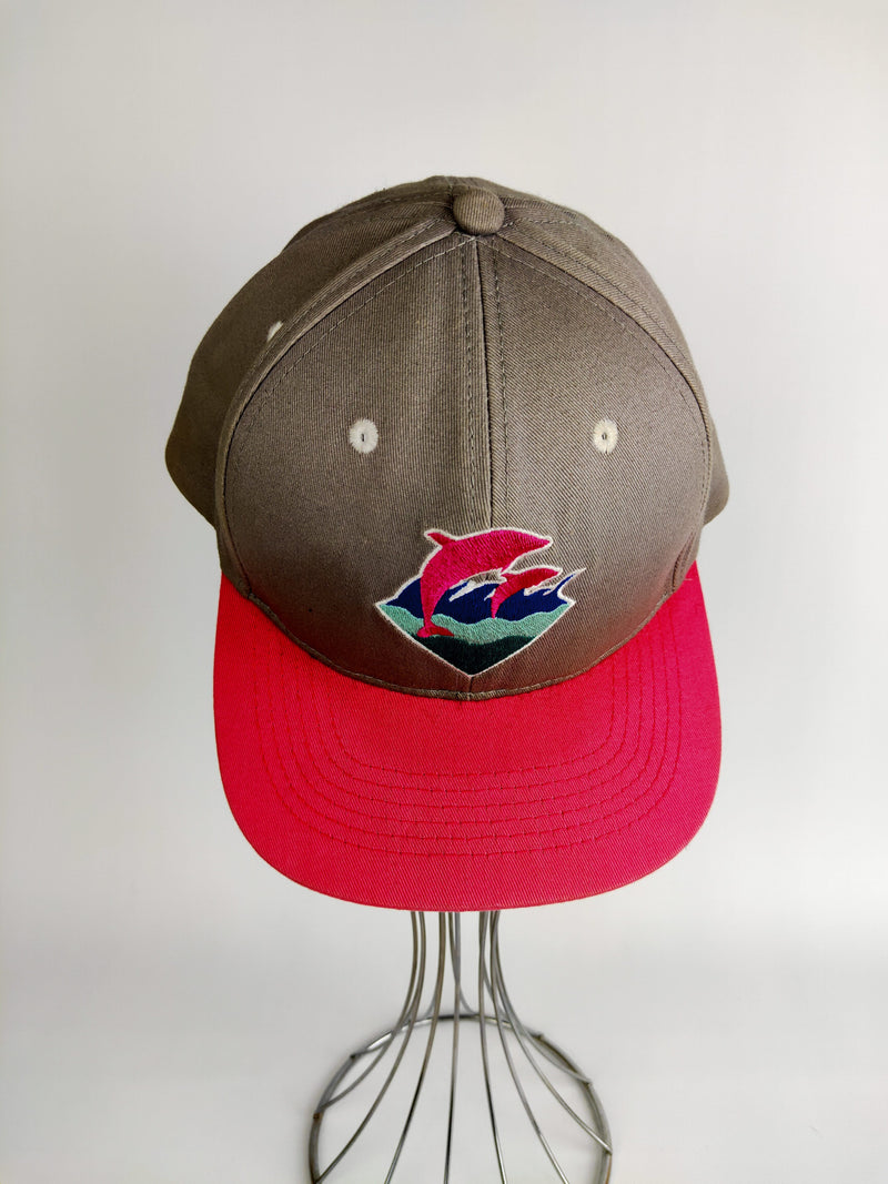 Pink Dolphin Grey & Pink Embroidered Cap