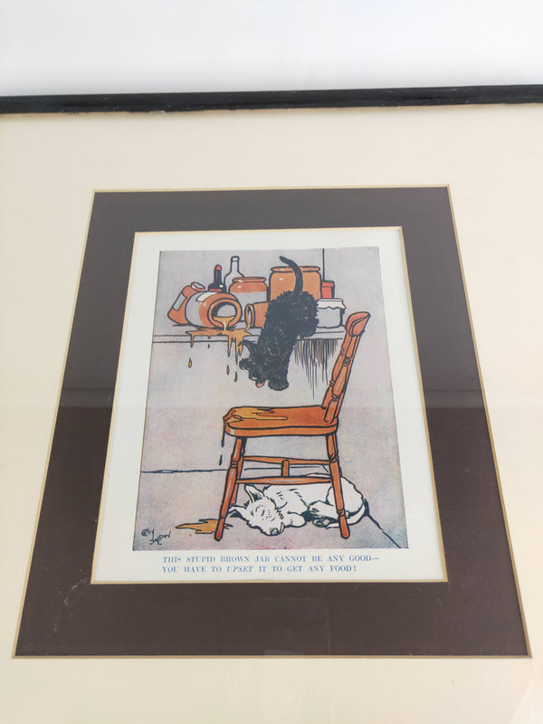 Cecil Aldin The Dog and The Honey Pot Illustrated Print