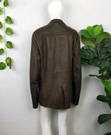 Hugo Boss Brown Leather Jacket (48 IT)