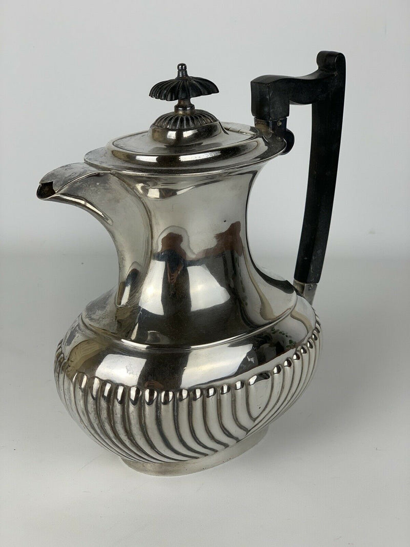 Silver Teapot With Bakelite Handle And Top Antique