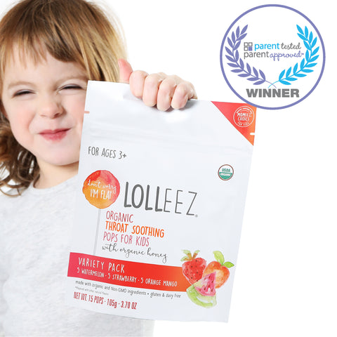 parent tested parent approved lolleez organic throat soothing pops for kids genexa mommys bliss matys best product for sore throat relief