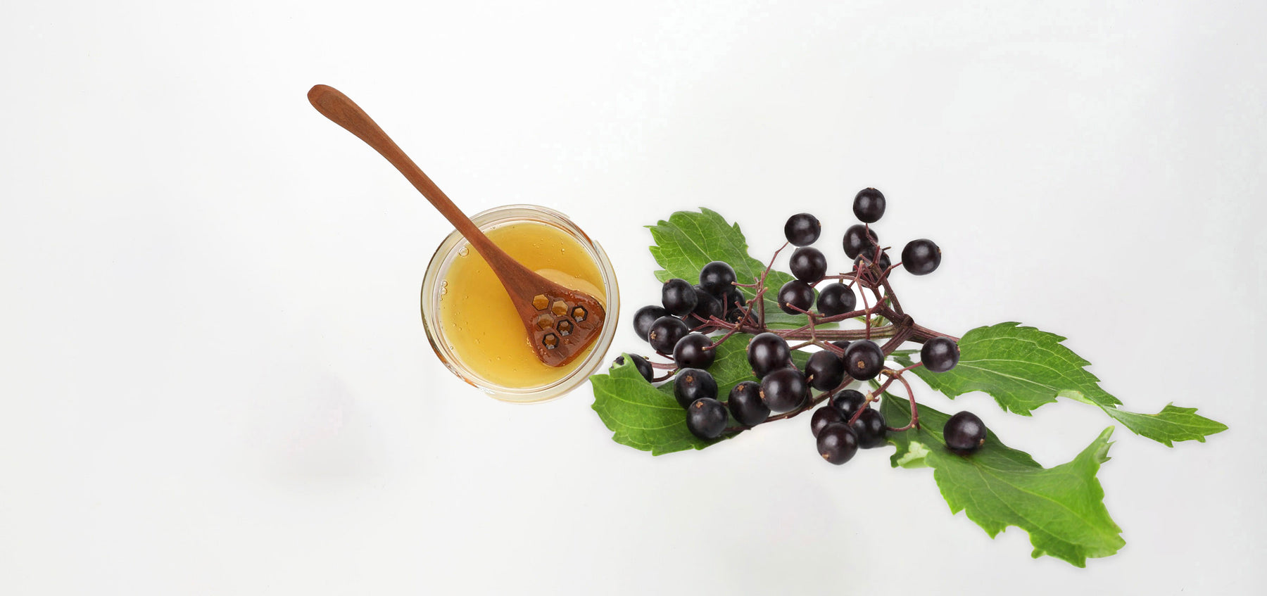 Honey and elderberries