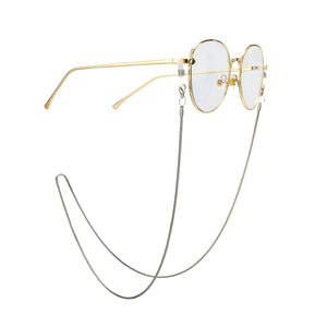 Gold Tone Link Glasses Mask Chain