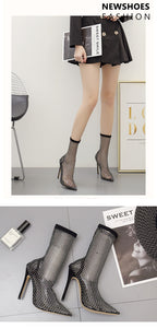 Crystal Mesh Pumps