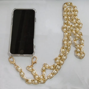Pearl Strap Phone Case For iPhone