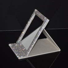 Load image into Gallery viewer, Foldable Rhinestone Make Up Mirror