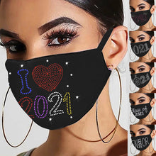 Load image into Gallery viewer, 2021 Sparkly Rhinestone Mask