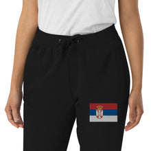 Load image into Gallery viewer, Serb flag Unisex Skinny Joggers