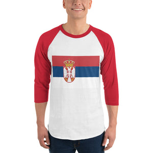 Serb flag 3/4 sleeve raglan shirt