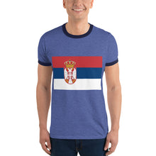 Load image into Gallery viewer, Serb flag Ringer T-Shirt