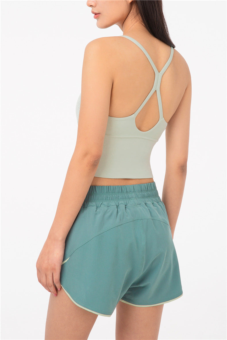Nara Low Cut Crop Top - Color: Honeydew - Zeebra Activewear