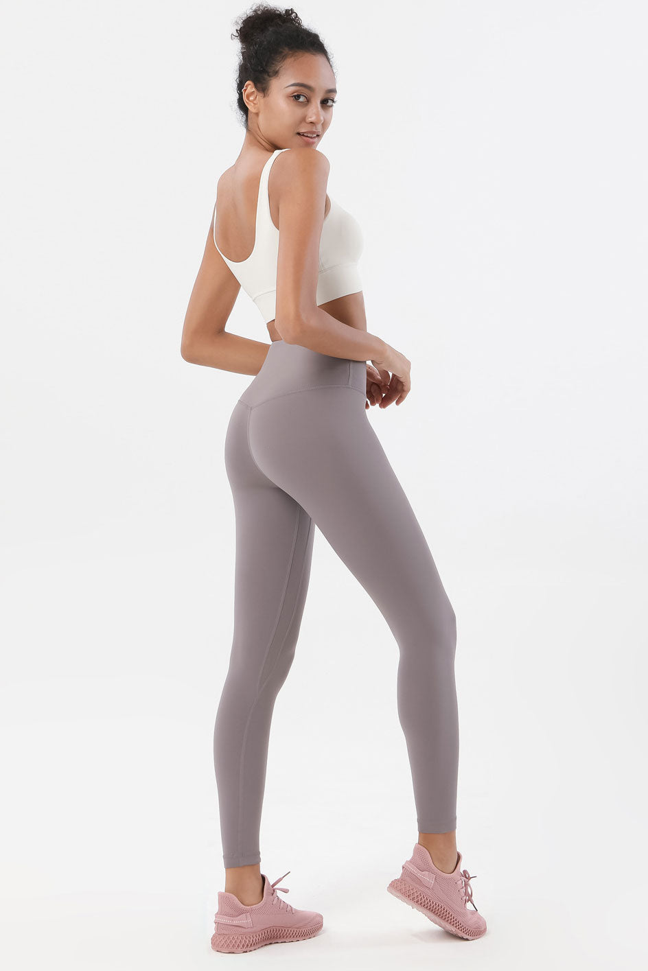 Ida High Waisted Full Length Leggings - Color: Lunar Rock - Zeebra Activewear