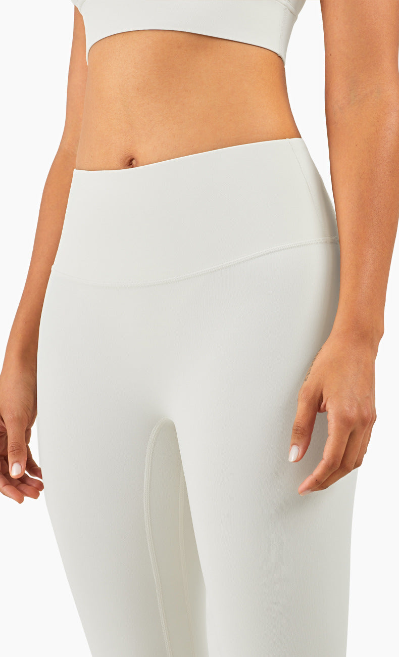 Ida High Waisted Full Length Leggings - Color: Ivory - Zeebra Activewear