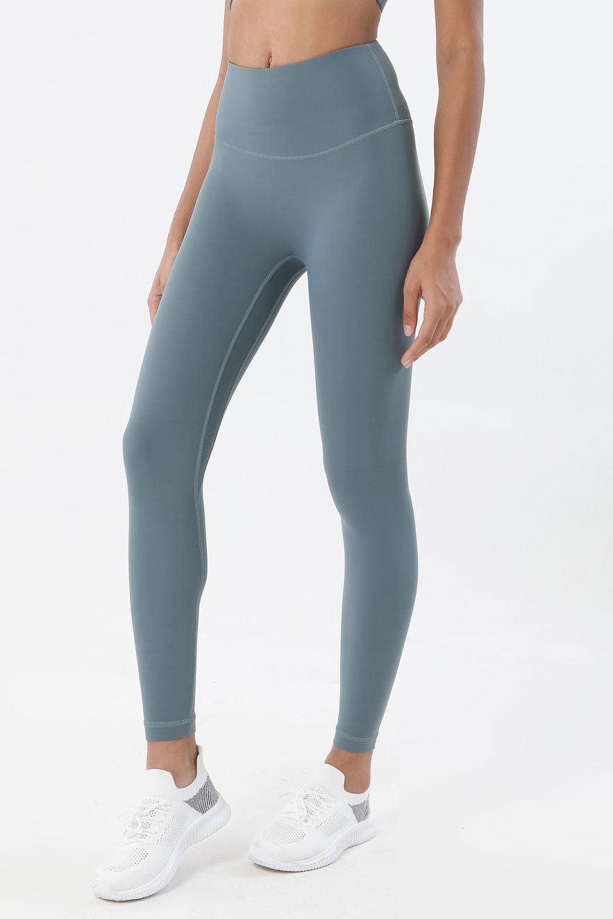 Ida High Waisted Full Length Leggings - Color: Charcoal - Zeebra Activewear