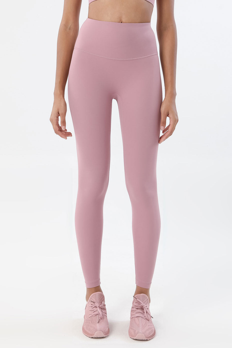 Ida High Waisted Full Length Leggings - Color: Lavender Pink - Zeebra Activewear