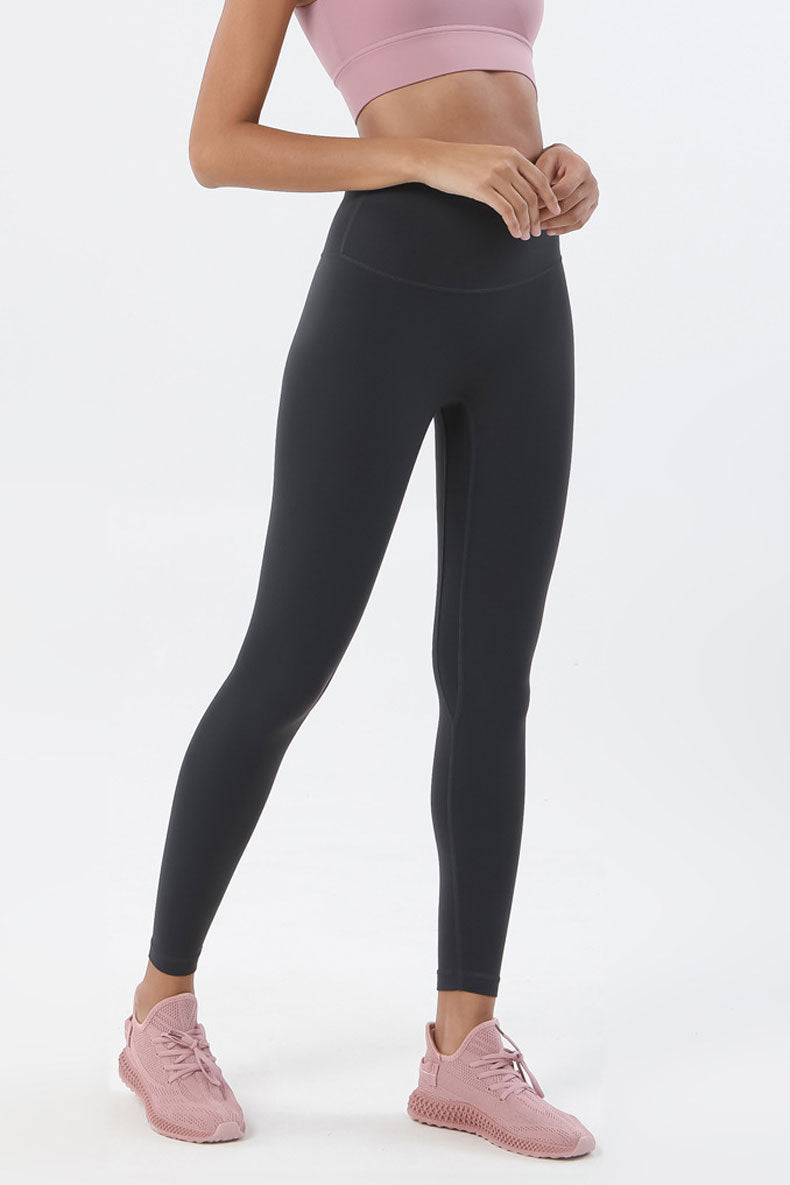 Ida High Waisted Full Length Leggings - Color: Graphite Grey - Zeebra Activewear