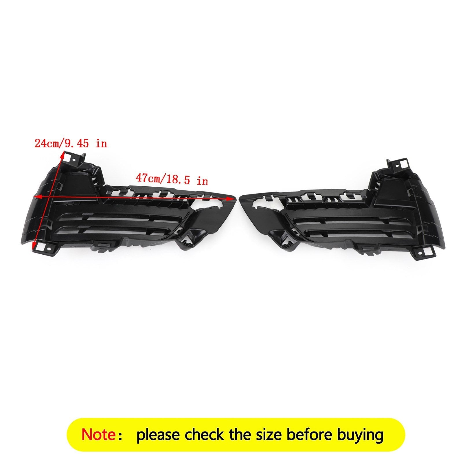Front Bumper Lower Left & Right Mesh Grille Grill Fit 2014-2018 BMW X5 F15 Generic