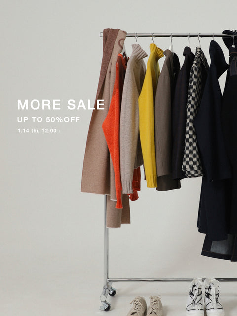 MAX50%OFF! MORE SALE 開催!