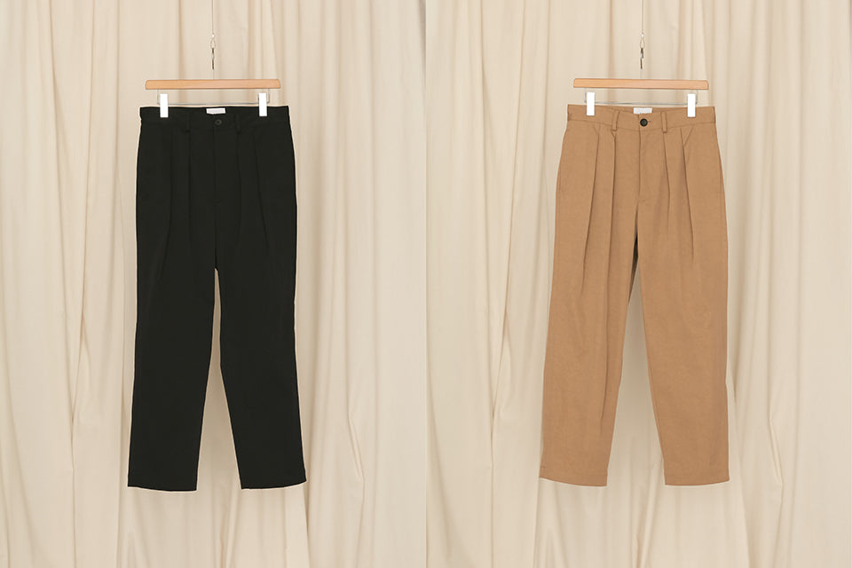 2 TUCK TAPERED PANTS
