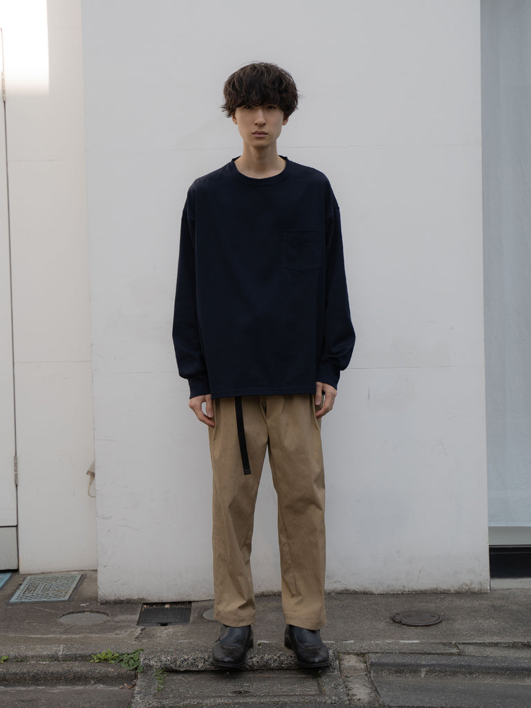 +81 OVERSIZED LONG SLEEVE TEE NVY 6