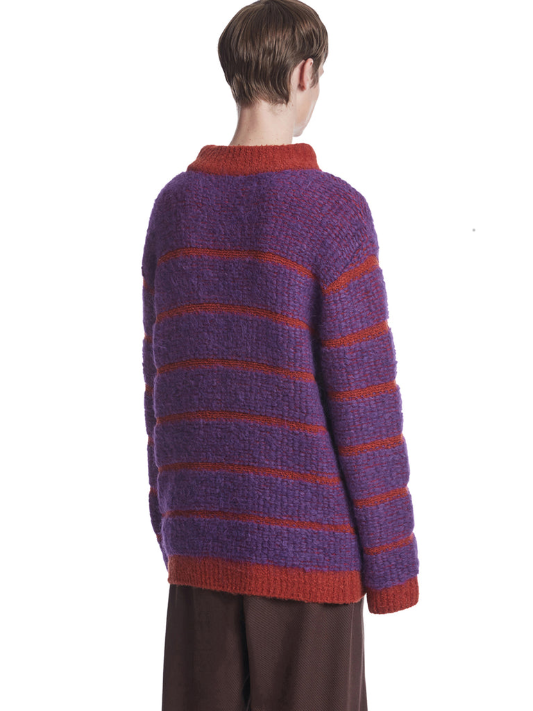 TRUNKPROJECT BOUCLE STRIPE KNIT SWEATER ORANGE 2
