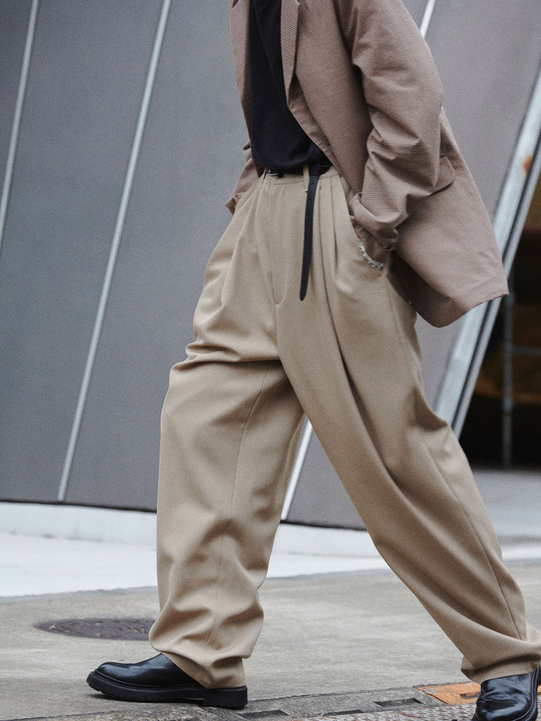 CASUAL SUIT PANTS WOOL SAND4
