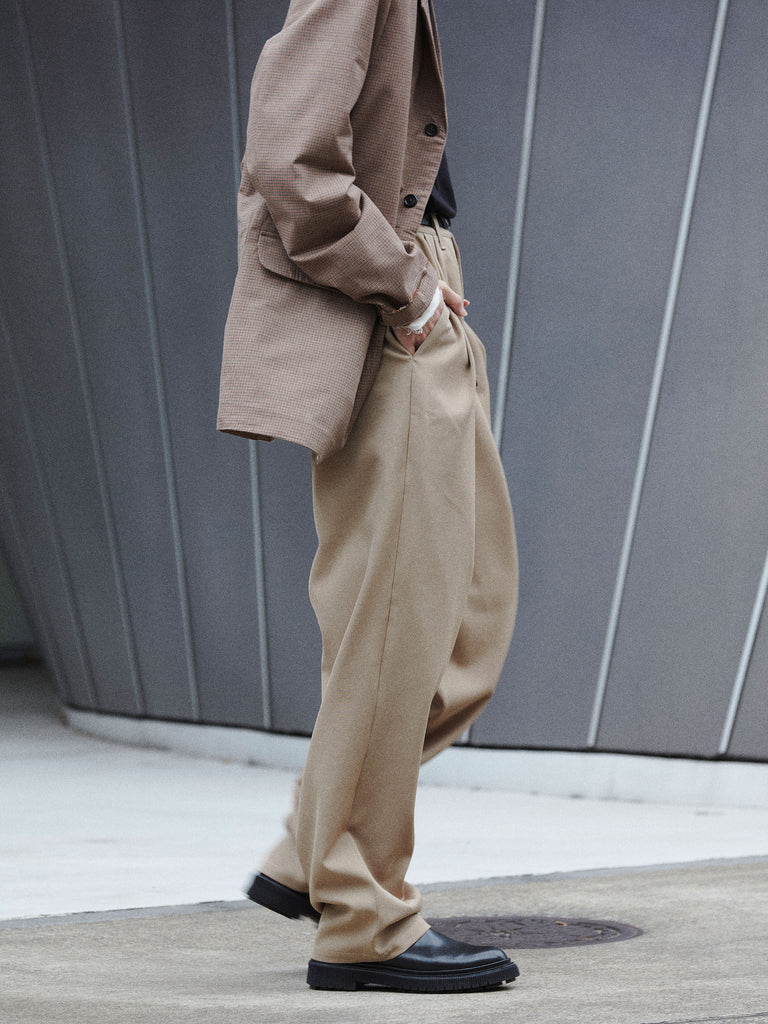 CASUAL SUIT PANTS WOOL SAND5