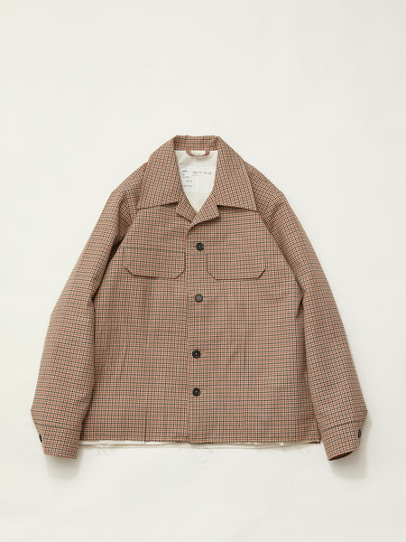 70'S JACKET CHECK BROWN1