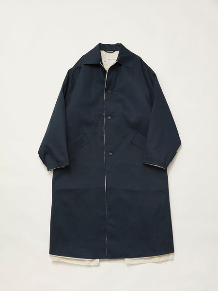 PUFFED MACKINTOSH WATERPROOF COTTON DARK BLUE1