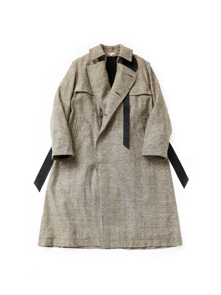 MASU OVER TRENCH COAT POWDER BLACK 1