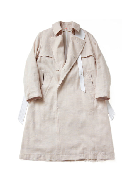 MASU OVER TRENCH COAT POWDER PINK 1