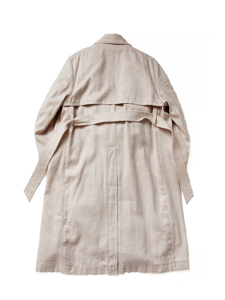 MASU OVER TRENCH COAT POWDER PINK 2