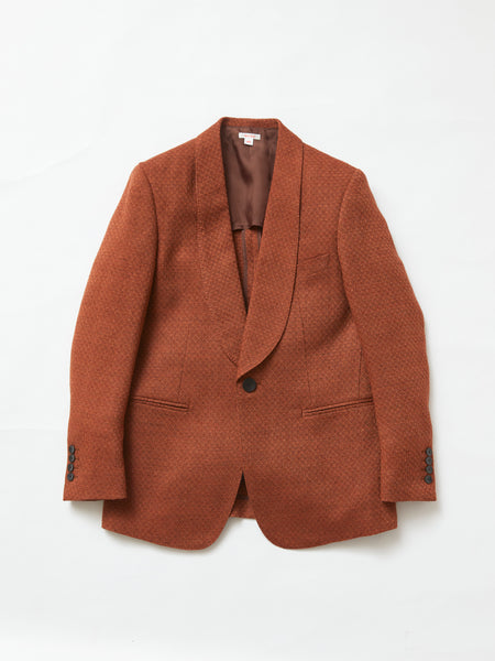 MASU SMOKING JACKET RED BROWN 1