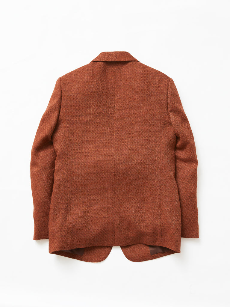 MASU SMOKING JACKET RED BROWN 2