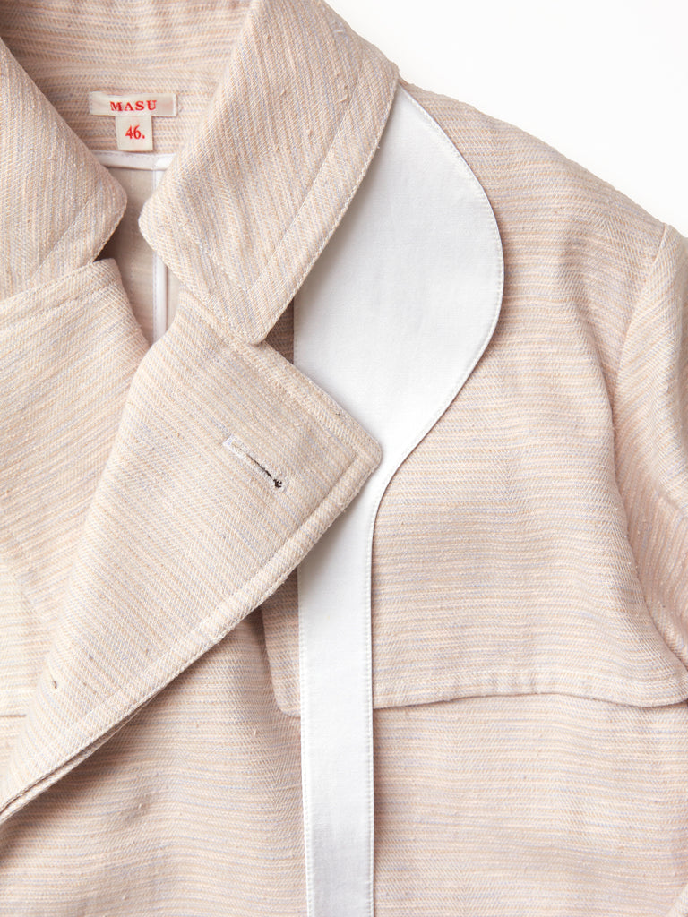 MASU OVER TRENCH COAT POWDER PINK 4